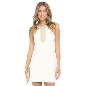 NWOT Lilly Pulitzer White Adelina Shift Dress